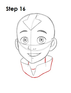 Draw Aang Avatar 16