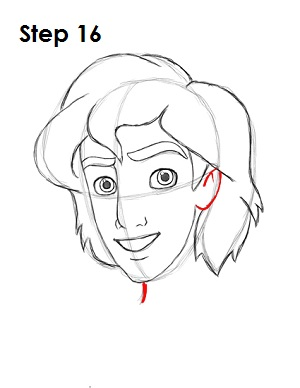 How to Draw Aladdin Step 16