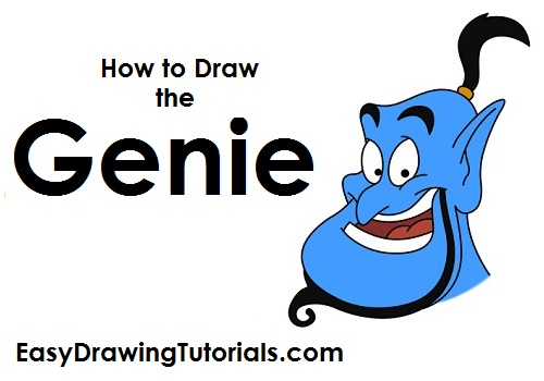 How to Draw Aladdin's Genie