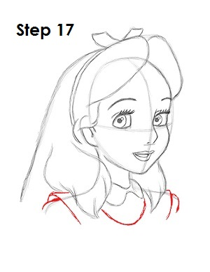 How to Draw Alice Step 17