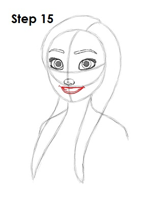 how to draw anna from frozen step by step slowly