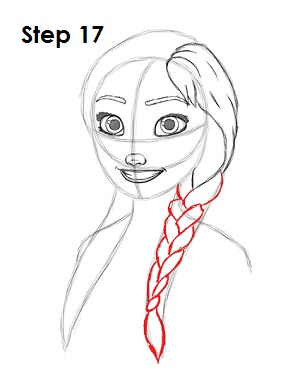 how to draw anna frozen