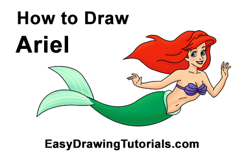 How To Draw Ariel From The Little Mermaid Full Body