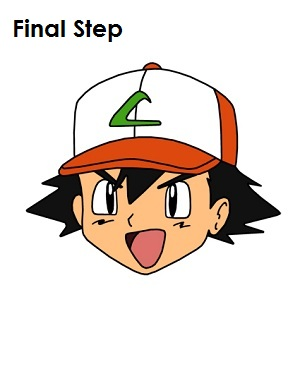 Ash Ketchum Pokemon Completed Drawing