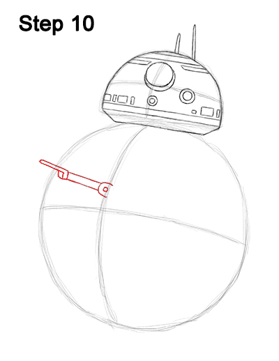 Draw BB-8 Force Awakens 10