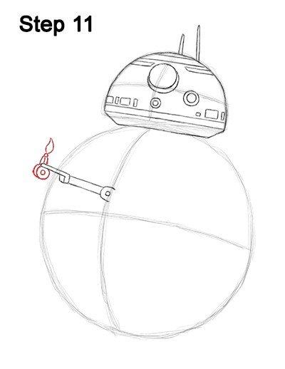 Draw BB-8 Force Awakens 11