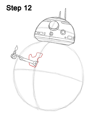 Draw BB-8 Force Awakens 12