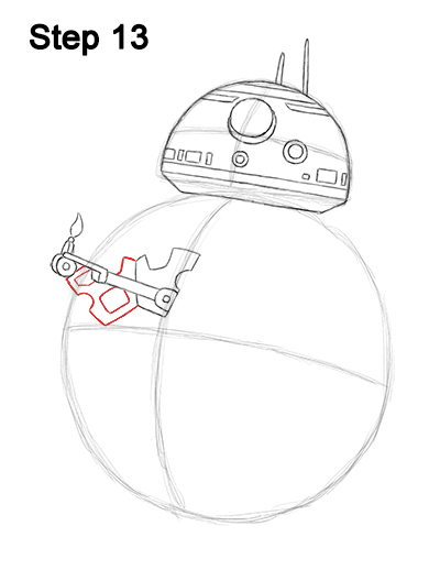 Draw BB-8 Force Awakens 13