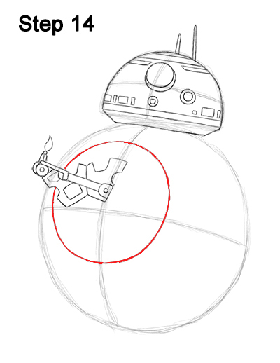 Draw BB-8 Force Awakens 14
