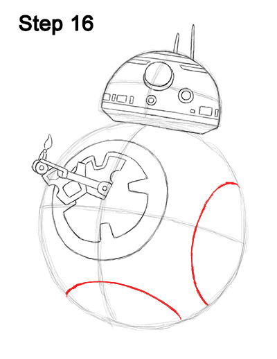Draw BB-8 Force Awakens 16