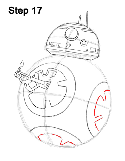 Draw BB-8 Force Awakens 17