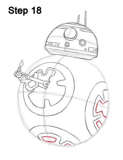 Draw BB-8 Force Awakens 18