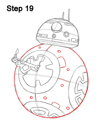 Draw BB-8 Force Awakens 19