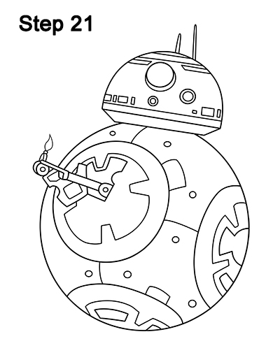 Draw BB-8 Force Awakens 21