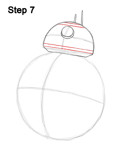 Draw BB-8 Force Awakens 7