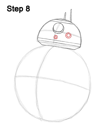Draw BB-8 Force Awakens 8