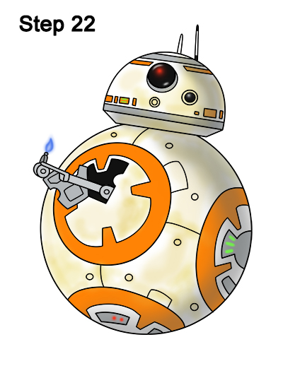 Draw BB-8 Force Awakens