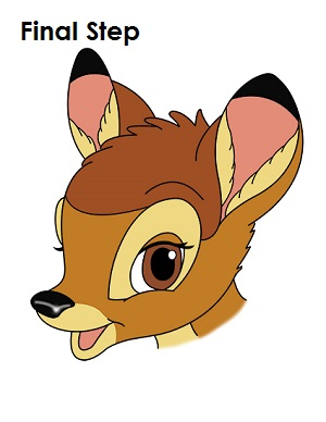 how to draw bambi