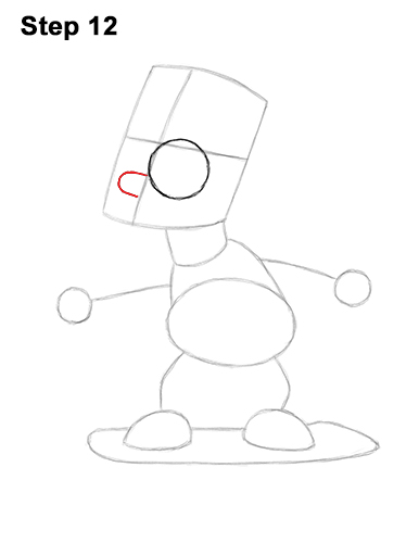 How to Draw Bart Simpson Full Body Skateboard Skater Skating 12