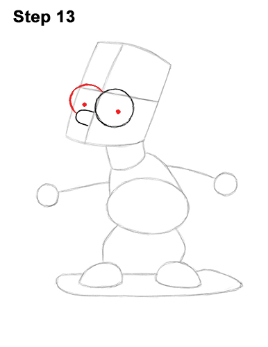 How to Draw Bart Simpson Full Body Skateboard Skater Skating 13