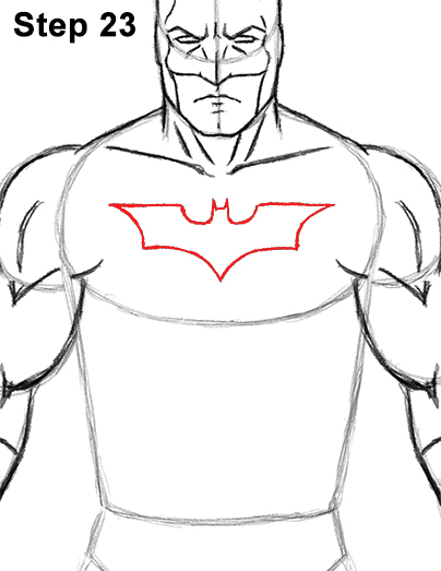 Draw Batman Full Body 23