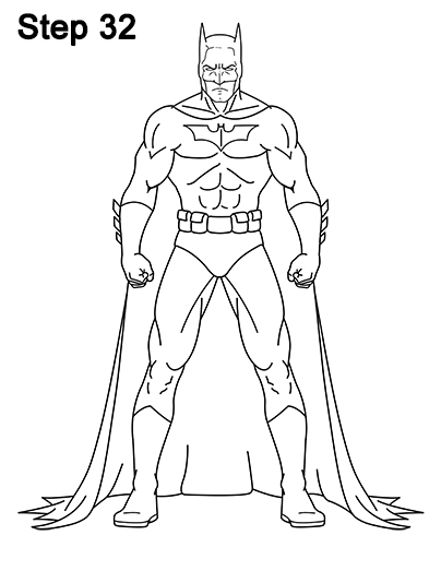 How to draw batman full body for Easy body drawings