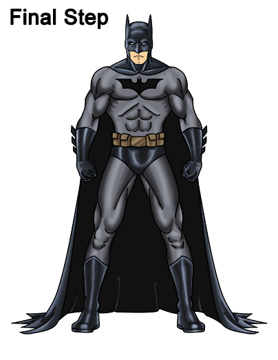 How to Draw Batman (Full Body)