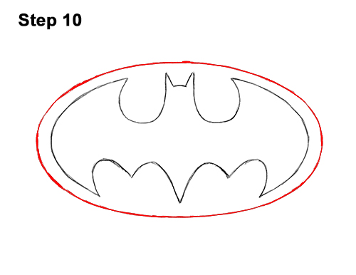 How To Draw The Batman Logo Video Step By Step Pictures