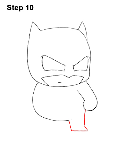 Draw Mini Chibi Little Batman 10