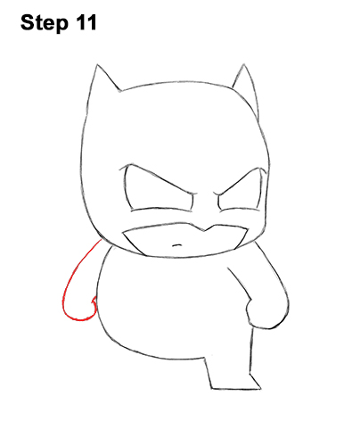 Draw Mini Chibi Little Batman 11