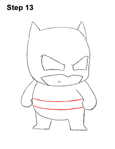 Draw Mini Chibi Little Batman 13