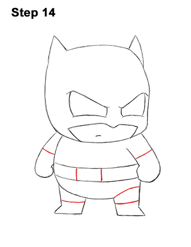 Draw Mini Chibi Little Batman 14
