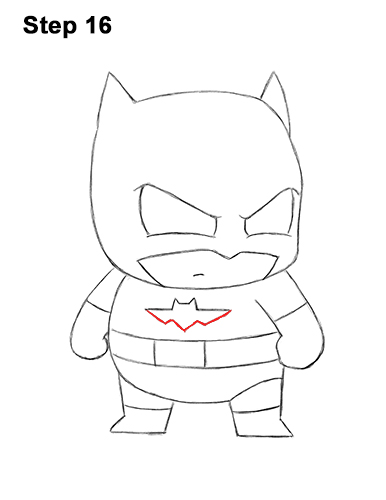 Draw Mini Chibi Little Batman 16