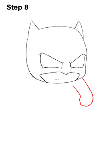 Draw Mini Chibi Little Batman 8