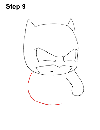 Draw Mini Chibi Little Batman 9