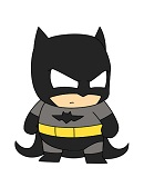 How to Draw Cartoon Batman Mini