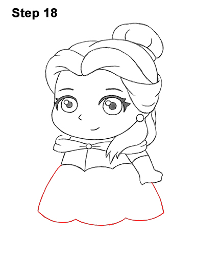 Draw Mini Chibi Cute Little Belle Beauty 18