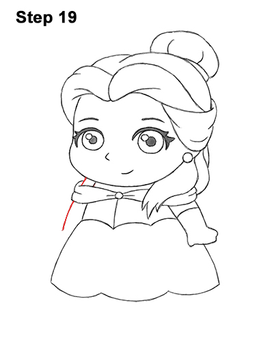 Draw Mini Chibi Cute Little Belle Beauty 19