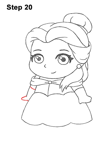 Draw Mini Chibi Cute Little Belle Beauty 20