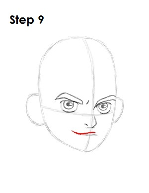 how to draw a smirk grin