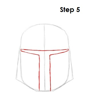Draw Boba Fett Step 5
