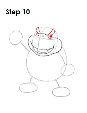 How to Draw Bowser Jr. Step 10