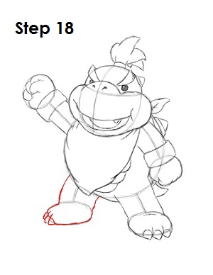How to Draw Bowser Jr. Step 18