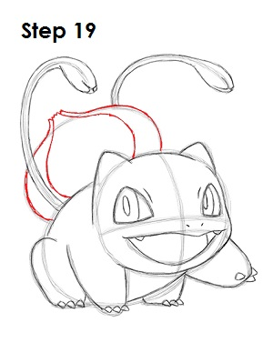 Draw Bulbasaur 19