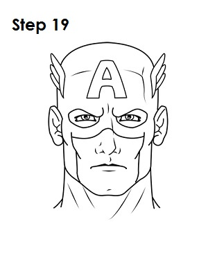 Gallery For gt Captain America Face Sketch