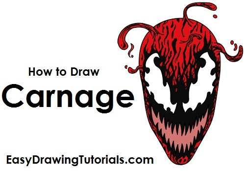 How To Draw Carnage Spider Man