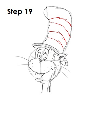 Draw Cat in the Hat 19