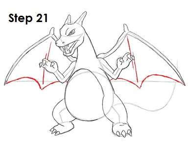 draw charizard pokemon 21