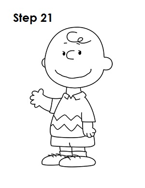 Draw Charlie Brown 21