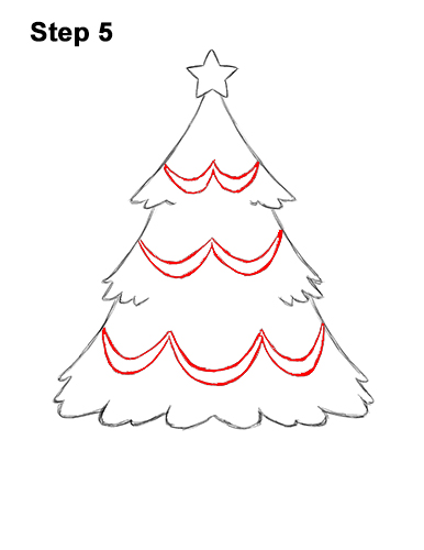 How To Draw A Christmas Tree Video Step By Step Pictures